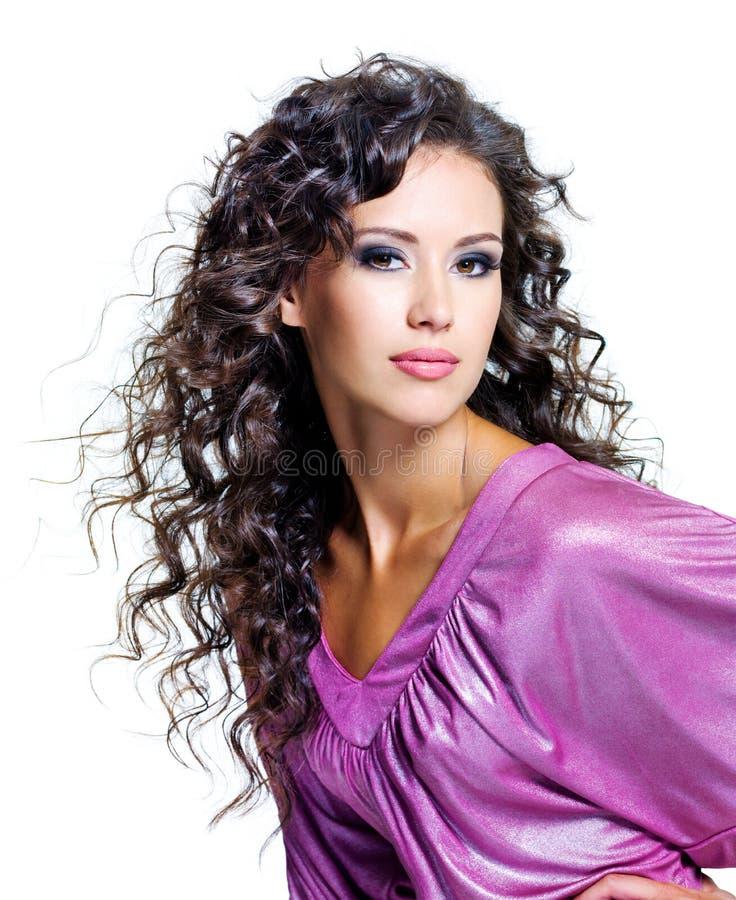 Πρόσωπο μιας όμορφης γυναίκας brunette στοκ φωτογραφίες με δικαίωμα ελεύθερης χρήσης