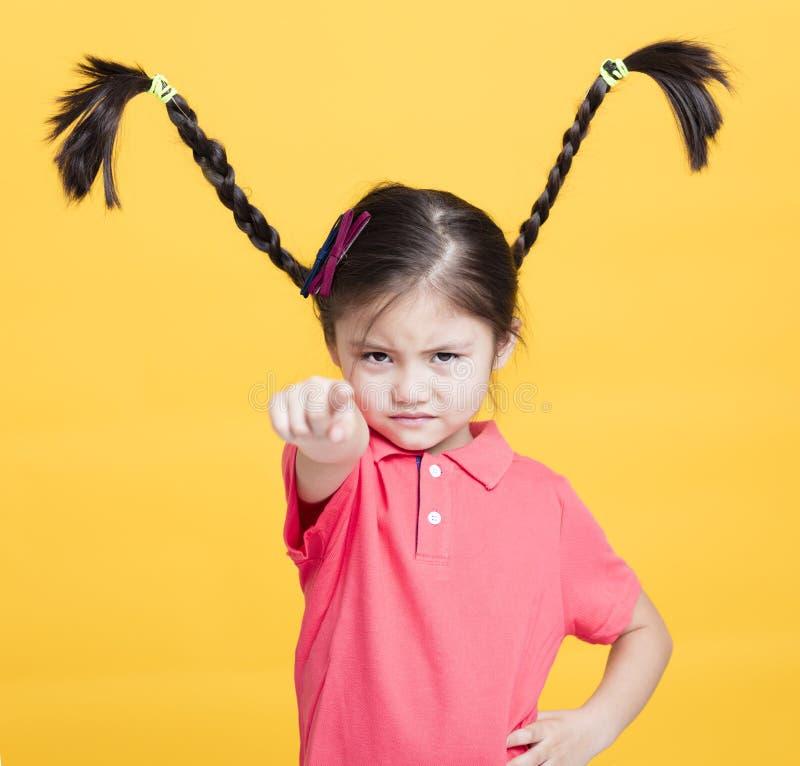 Πρόσωπο μικρών κοριτσιών κινηματογραφήσεων σε πρώτο πλάνο στοκ εικόνες με δικαίωμα ελεύθερης χρήσης