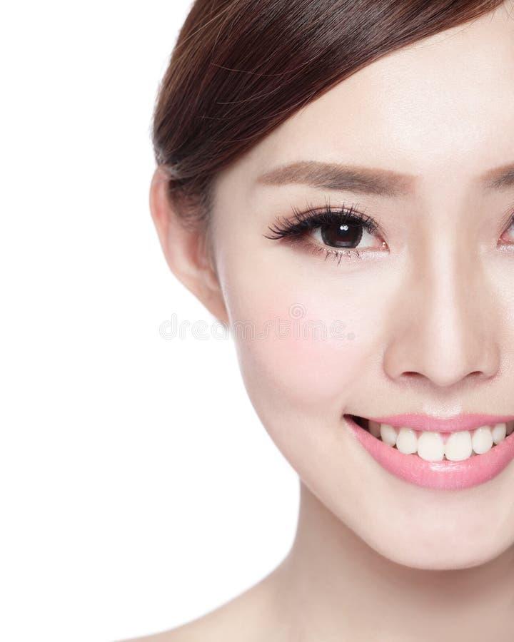 Πρόσωπο ομορφιάς γυναικών στοκ εικόνες με δικαίωμα ελεύθερης χρήσης