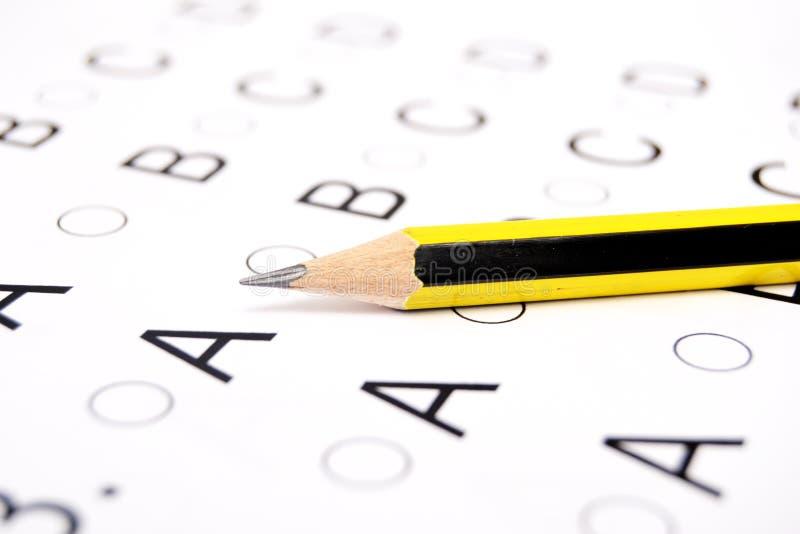 Πρόσωπο που δίνει εξετάσεις στοκ εικόνα με δικαίωμα ελεύθερης χρήσης