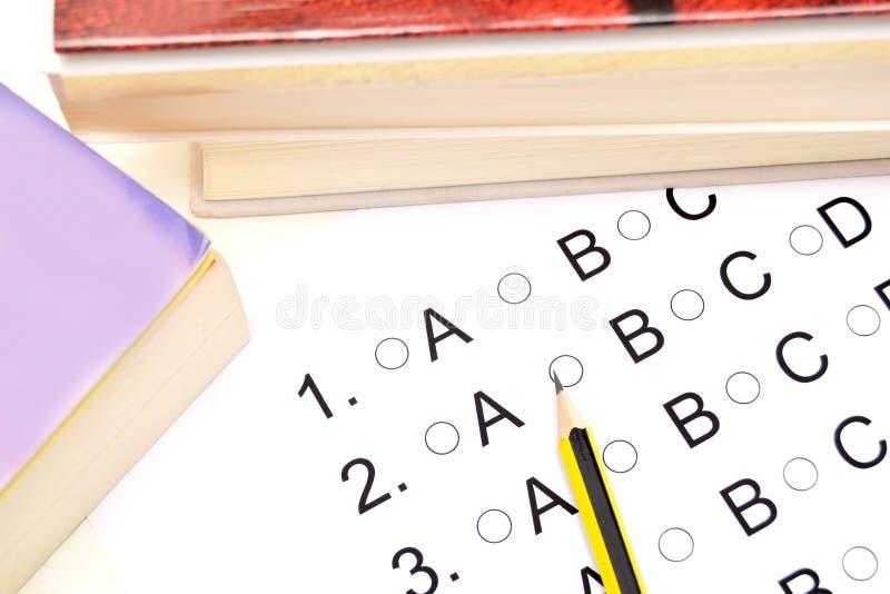 Πρόσωπο που δίνει εξετάσεις στοκ εικόνα