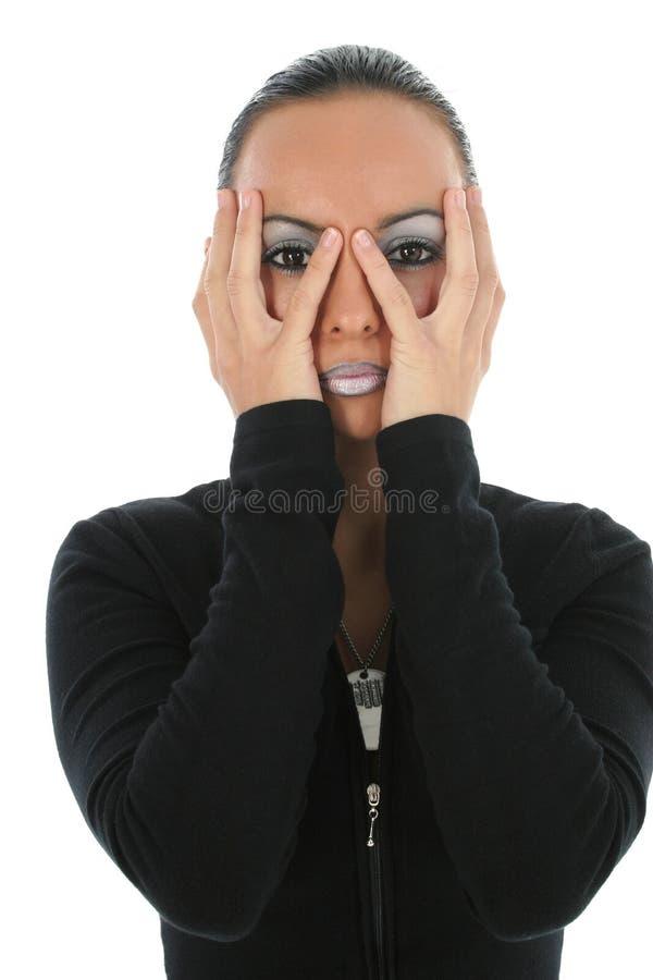 πρόσωπο που κρατά την όμορφη γυναίκα στοκ εικόνα με δικαίωμα ελεύθερης χρήσης