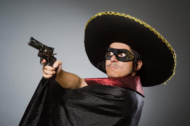 Download Πρόσωπο που φορά το καπέλο σομπρέρο στην αστεία έννοια Στοκ Εικόνα - εικόνα από φαλλοκράτης, moustache: 62708393