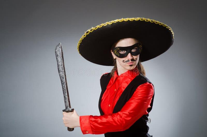 Download Πρόσωπο που φορά το καπέλο σομπρέρο στην αστεία έννοια Στοκ Εικόνες - εικόνα από μεξικό, moustache: 62708952