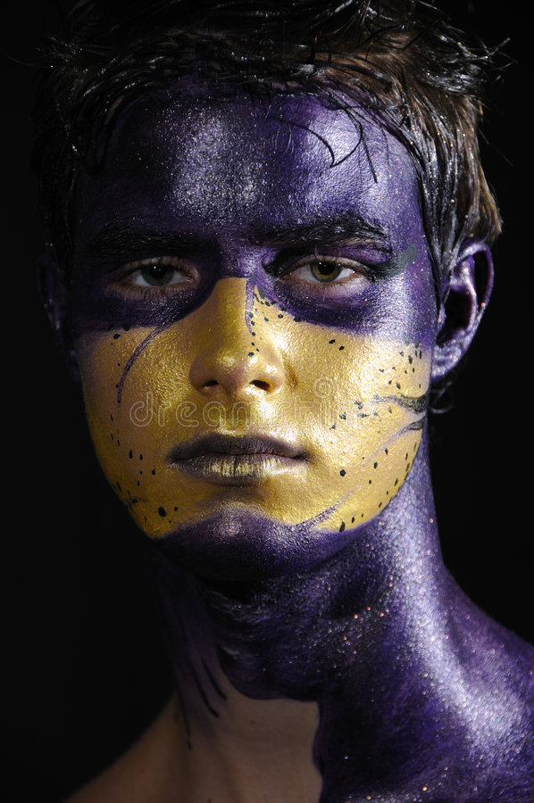πρόσωπο που χρωματίζεται στοκ εικόνες με δικαίωμα ελεύθερης χρήσης
