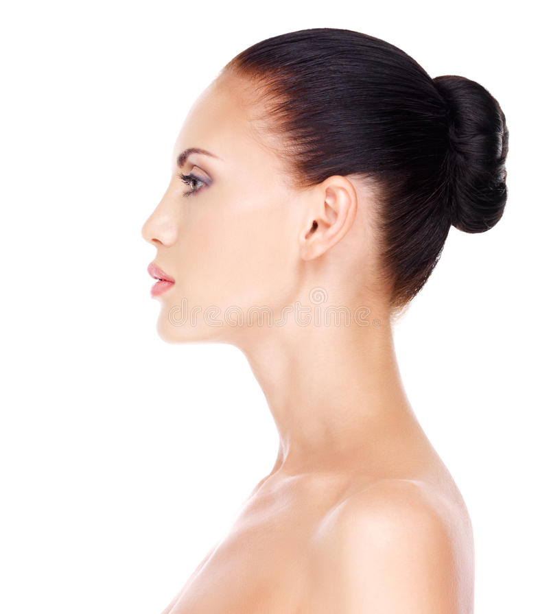 Πρόσωπο σχεδιαγράμματος της νέας γυναίκας στοκ φωτογραφία