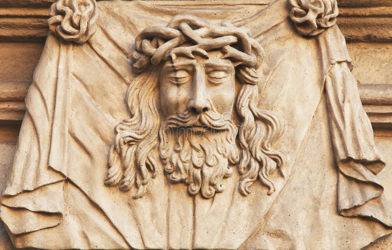 Πρόσωπο της κορώνας του Ιησούς Χριστού των αγκαθιών (άγαλμα) στοκ φωτογραφίες με δικαίωμα ελεύθερης χρήσης