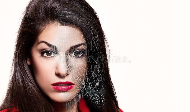 Πρόσωπο της όμορφης τρισδιάστατης νέας γυναίκας στοκ φωτογραφίες με δικαίωμα ελεύθερης χρήσης
