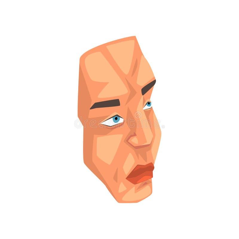 Πρόσωπο του ατόμου, αρσενική διανυσματική απεικόνιση μελών του σώματος σε ένα άσπρο υπόβαθρο διανυσματική απεικόνιση