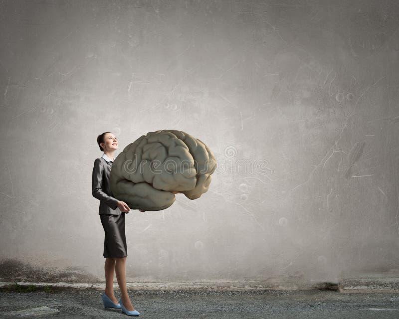 Πρόσωπο του μεγάλου μυαλού στοκ φωτογραφία