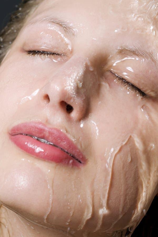 πρόσωπο υγρό στοκ εικόνα