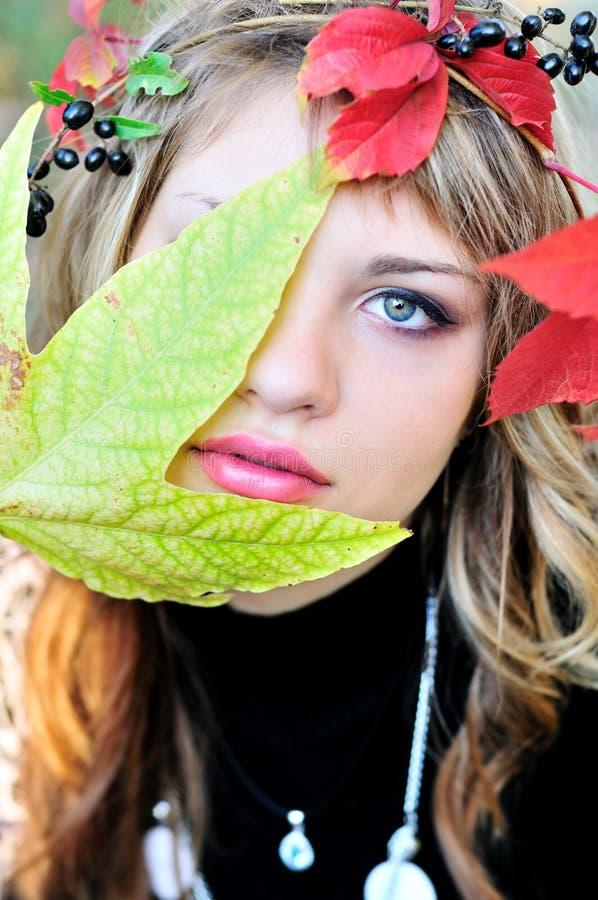 πρόσωπο φθινοπώρου στοκ εικόνα με δικαίωμα ελεύθερης χρήσης