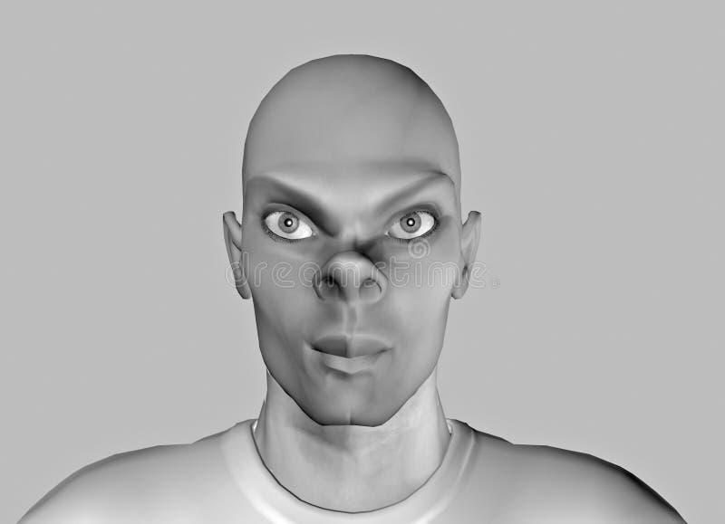 Download πρόσωπο 14 αστείο απεικόνιση αποθεμάτων. εικονογραφία από μαύρα - 56460