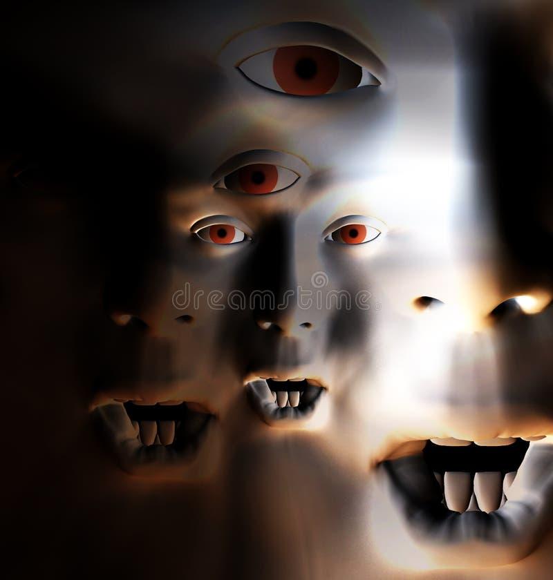 Πρόσωπο 66 φρίκης στοκ φωτογραφία με δικαίωμα ελεύθερης χρήσης