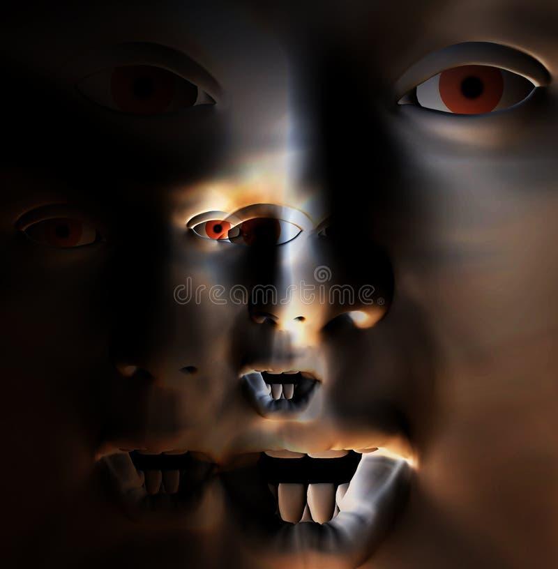 Download Πρόσωπο 7 φρίκης στοκ εικόνα. εικόνα από φόβος, στόμα - 1535463