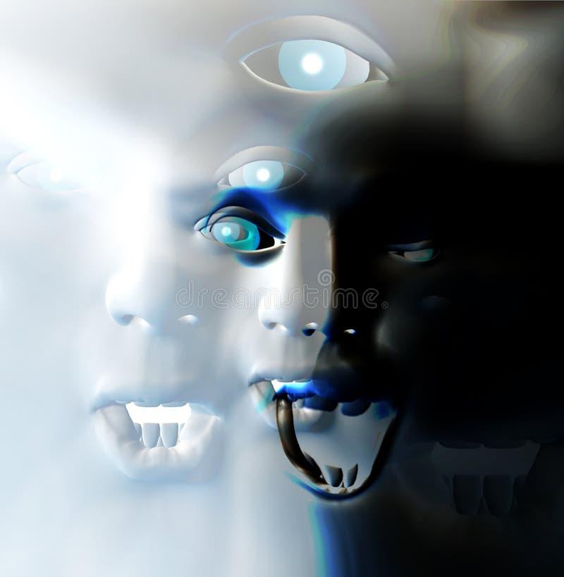 Πρόσωπο 8 φρίκης Στοκ Εικόνες