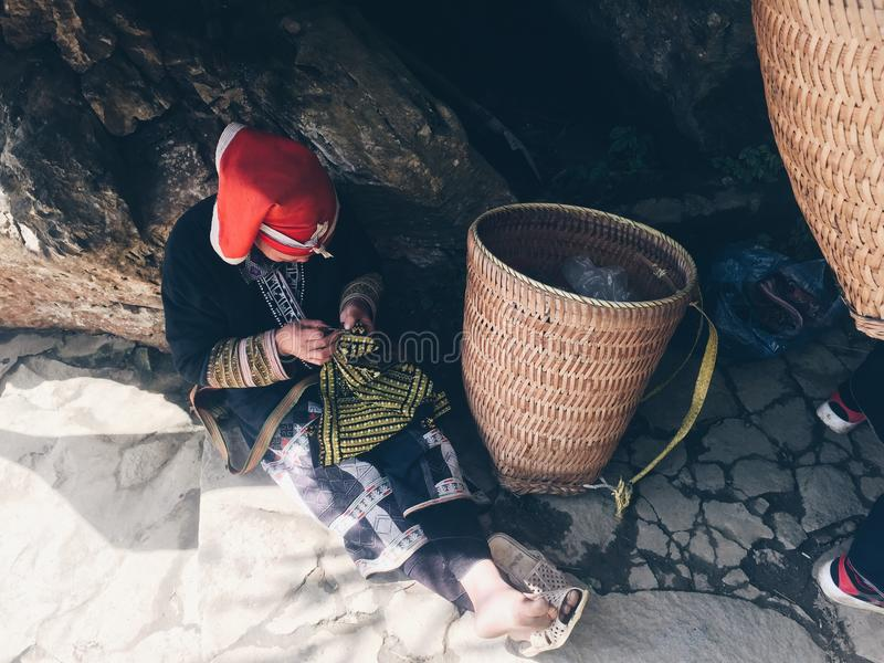 Πρόσωπο Dao 5$α  á» , Sapa, Βιετνάμ στοκ εικόνα