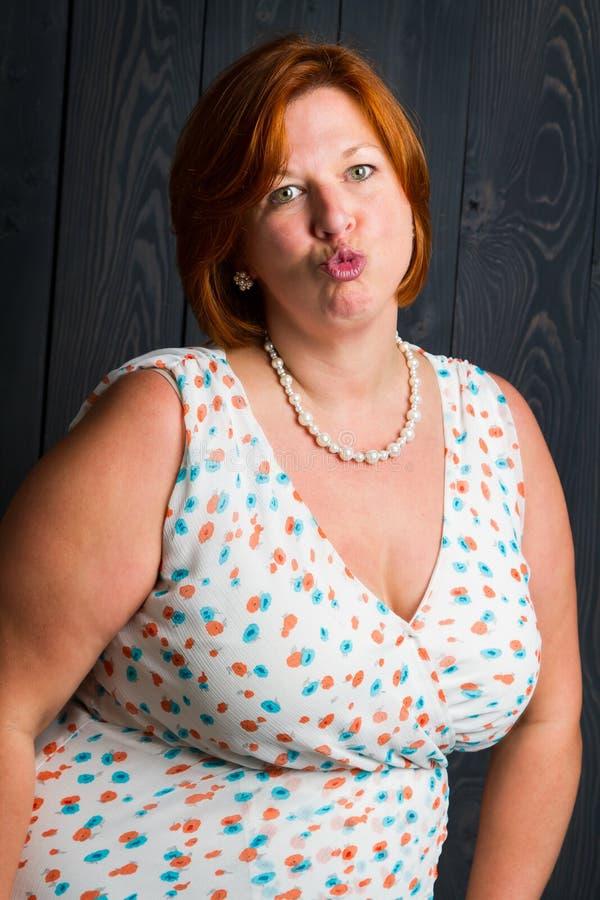 πρόσωπο kissy στοκ φωτογραφία με δικαίωμα ελεύθερης χρήσης