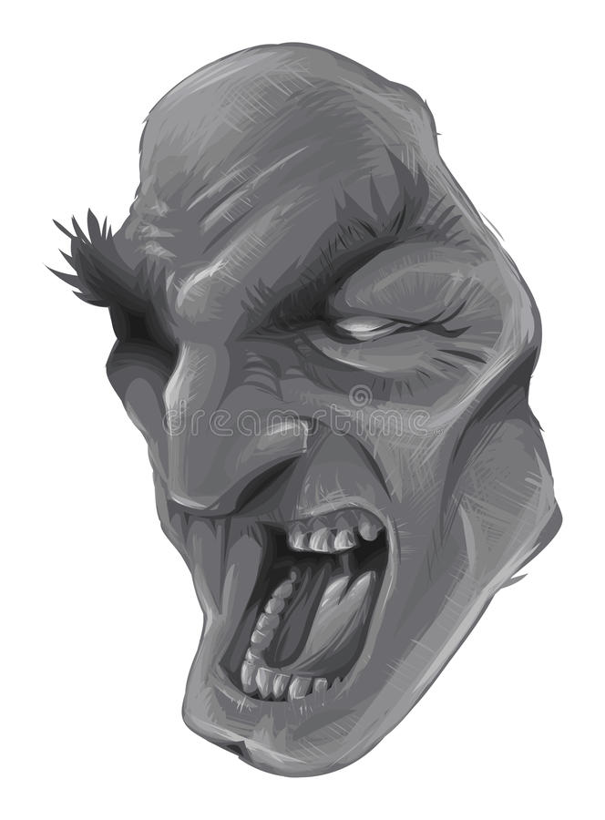πρόσωπο scary απεικόνιση αποθεμάτων