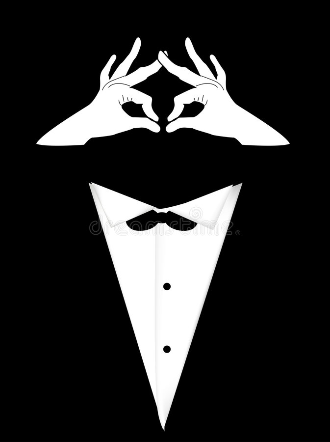 πρόσωπο tailcoat διανυσματική απεικόνιση