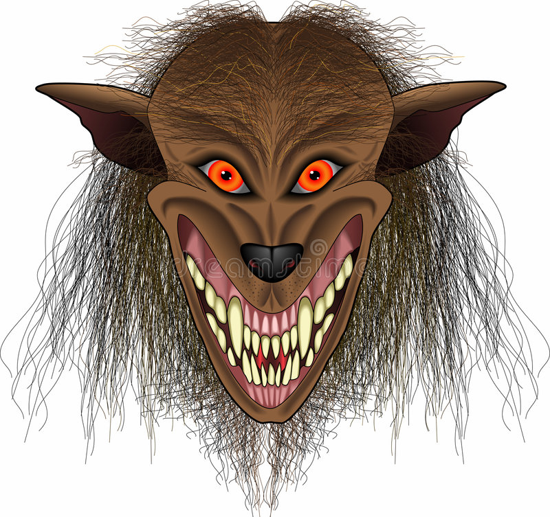 πρόσωπο werewolf απεικόνιση αποθεμάτων