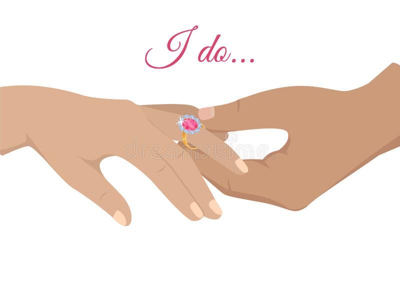 Πρόταση γάμου ή διανυσματική έννοια δέσμευσης διανυσματική απεικόνιση