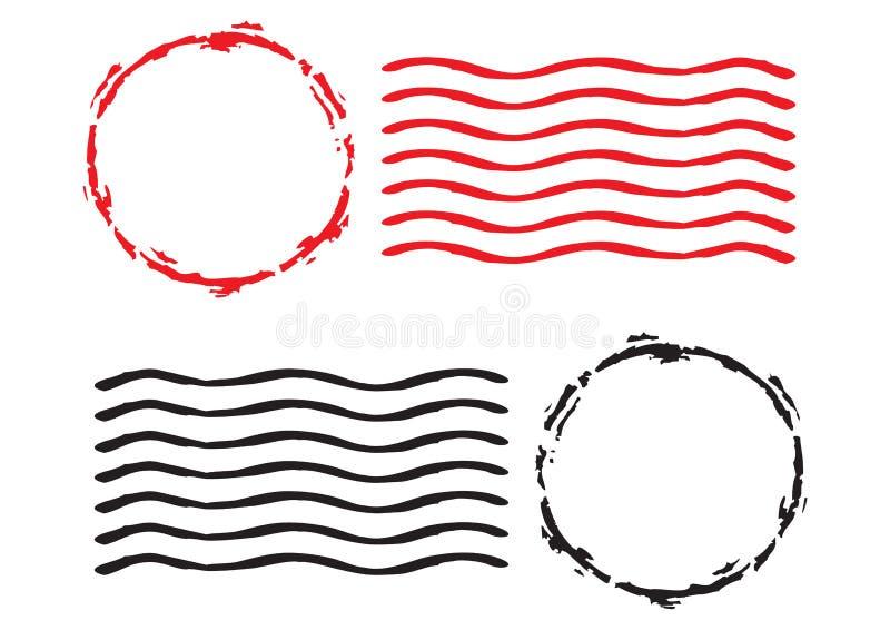 πρότυπα γραμματοσήμων ελεύθερη απεικόνιση δικαιώματος