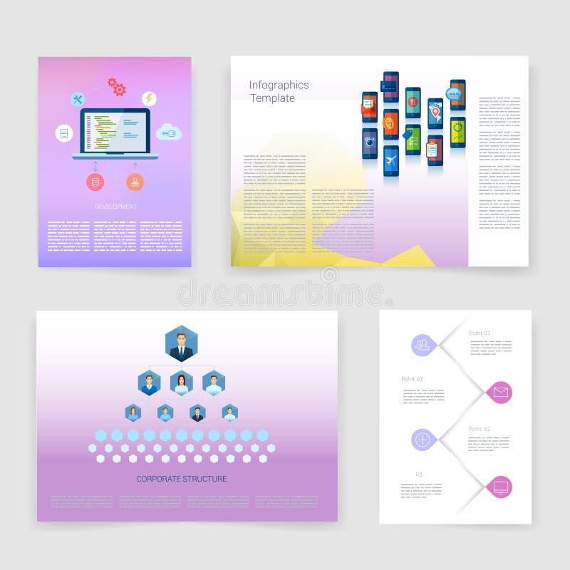 πρότυπα Διανυσματικό ιπτάμενο, φυλλάδιο, κάλυψη περιοδικών διανυσματική απεικόνιση