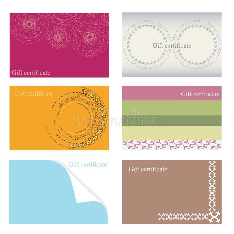 πρότυπα δώρων πιστοποιητι&ka ελεύθερη απεικόνιση δικαιώματος