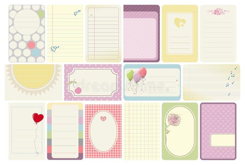 Πρότυπα επαγγελματικών καρτών απεικόνιση αποθεμάτων