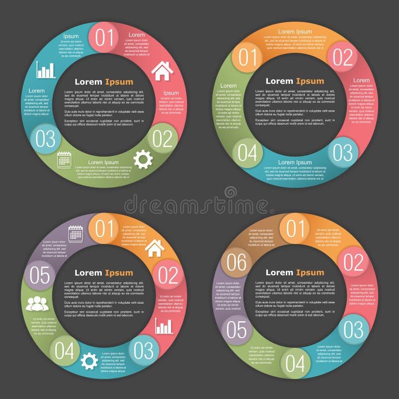 Πρότυπα διαγραμμάτων κύκλων διανυσματική απεικόνιση