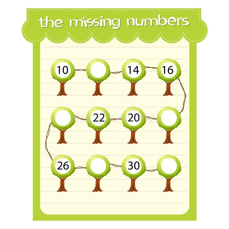 Πρότυπα παιχνιδιών με την απώλεια των αριθμών απεικόνιση αποθεμάτων