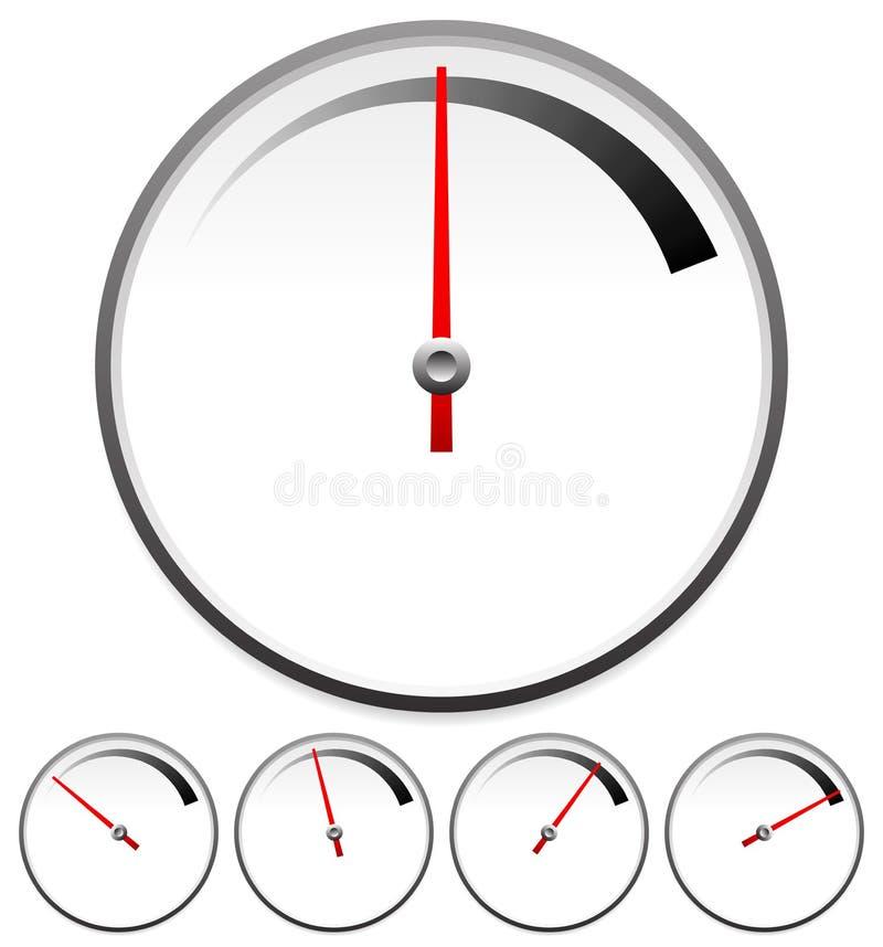 Πρότυπα πινάκων για την έννοια μετρητών που τίθεται σε 5 στάδια διανυσματική απεικόνιση