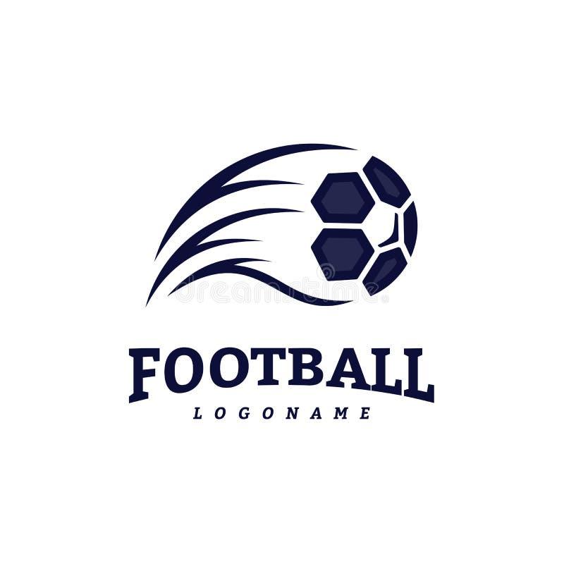 Πρότυπα σχεδίου λογότυπων διακριτικών ποδοσφαίρου ποδοσφαίρου Διανυσματική απεικόνιση ταυτότητας αθλητικής ομάδας απεικόνιση αποθεμάτων
