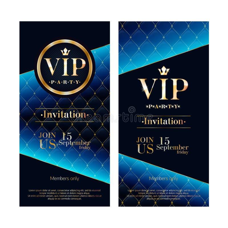 Πρότυπα σχεδίου ασφαλίστρου καρτών VIP πρόσκλησης καθορισμένα απεικόνιση αποθεμάτων