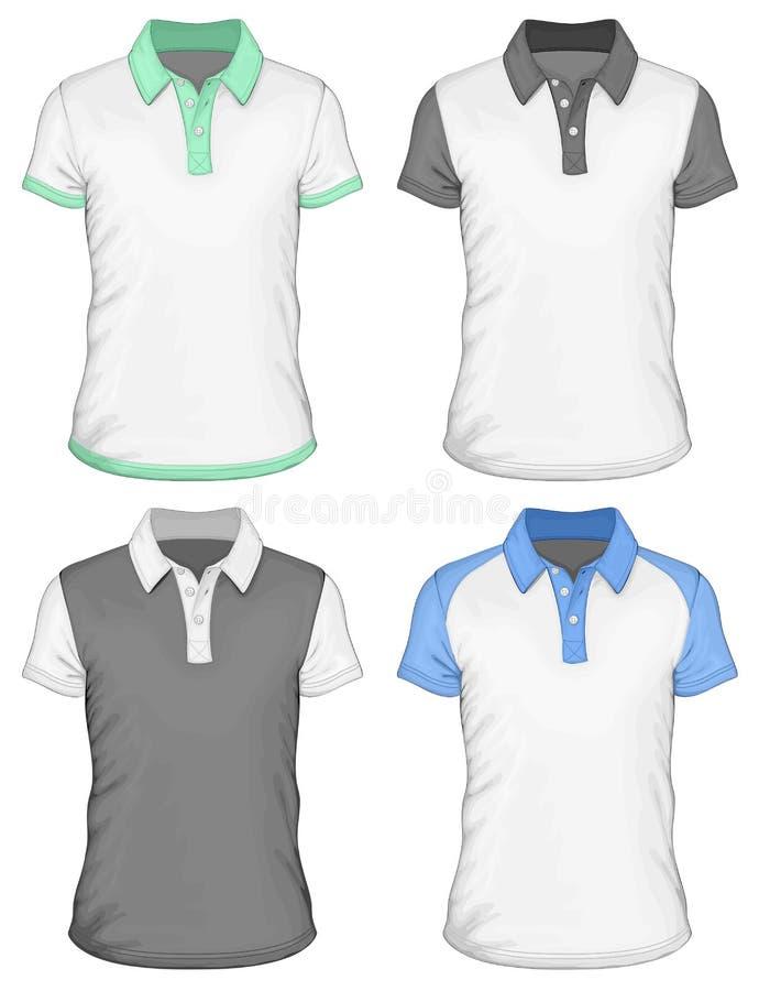 Πρότυπα σχεδίου πόλο-πουκάμισων ατόμων απεικόνιση αποθεμάτων