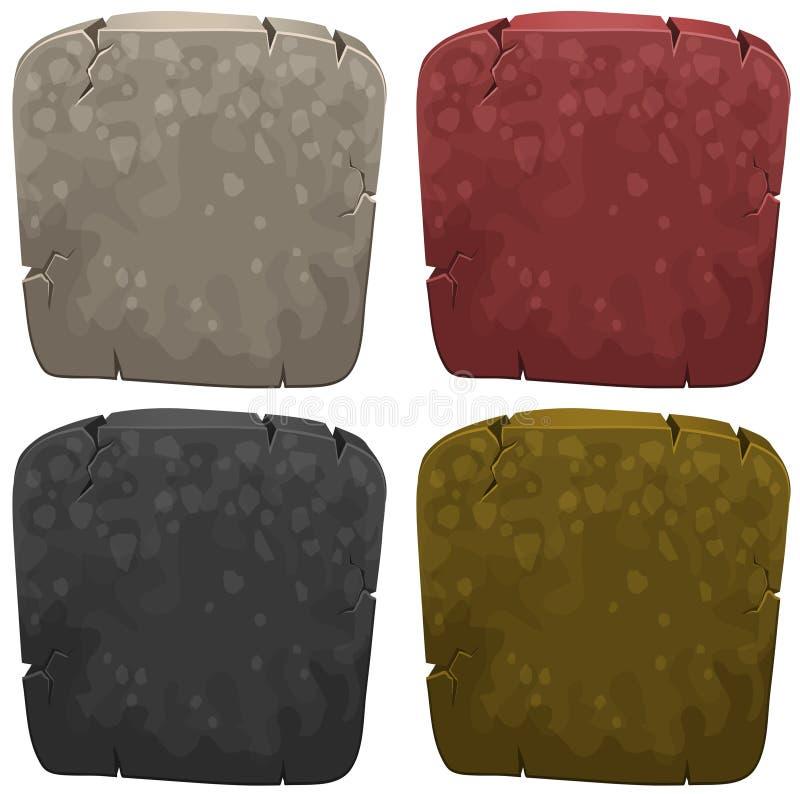 Πρότυπα υποβάθρου με την πέτρα σε τέσσερα χρώματα απεικόνιση αποθεμάτων