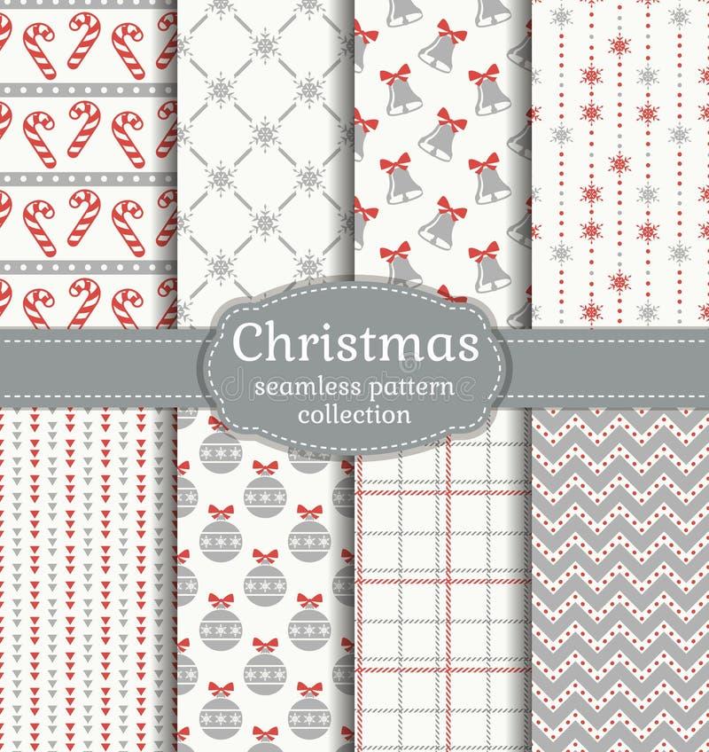 πρότυπα Χριστουγέννων άνε&upsil πολικό καθορισμένο διάνυσμα καρδιών κινούμενων σχεδίων απεικόνιση αποθεμάτων