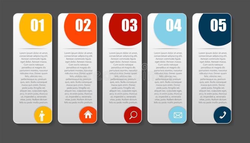 Πρότυπα Infographic για την επιχειρησιακή διανυσματική απεικόνιση διανυσματική απεικόνιση