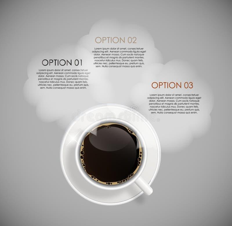 Πρότυπα Infographic καφέ για το επιχειρησιακό διάνυσμα διανυσματική απεικόνιση