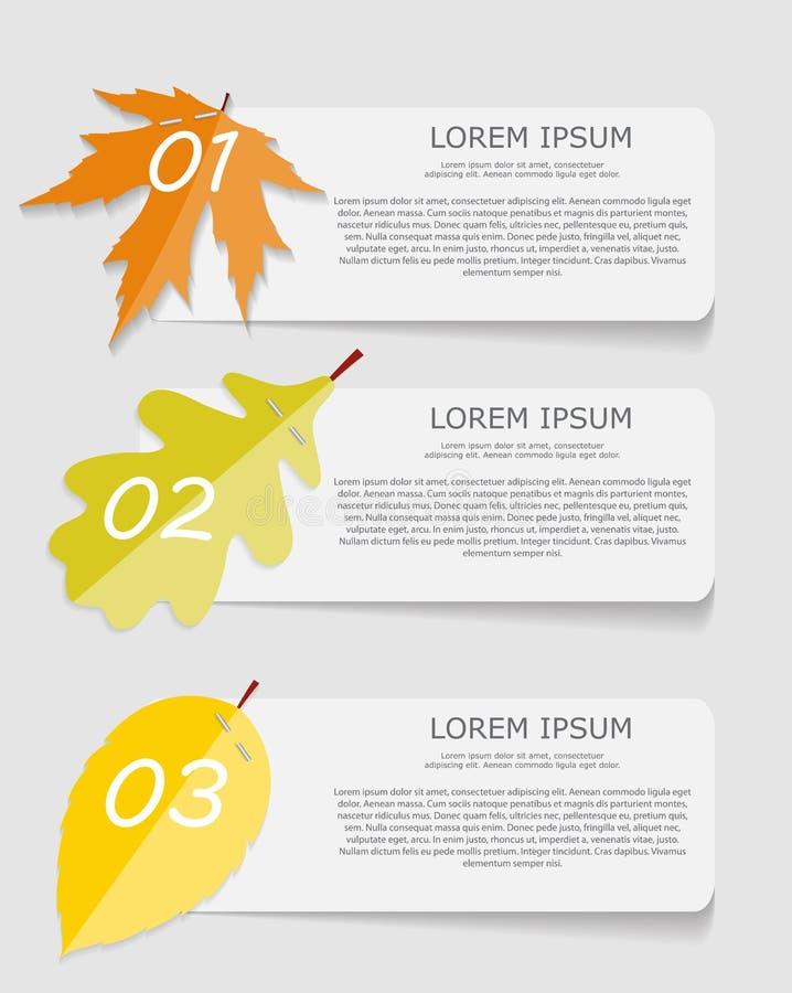 Πρότυπα Infographic φύλλων φθινοπώρου για την επιχείρηση απεικόνιση αποθεμάτων