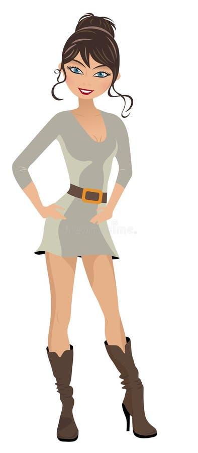 πρότυπη γυναίκα μόδας διανυσματική απεικόνιση