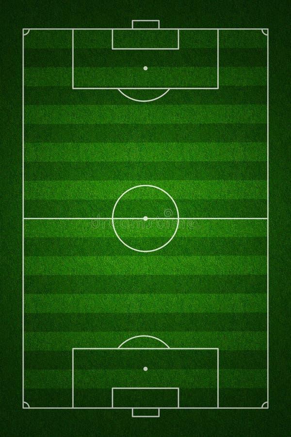 πρότυπη κορυφαία όψη σημαδιών ποδοσφαίρου πεδίων ελεύθερη απεικόνιση δικαιώματος