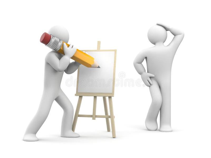 Πρότυπη τοποθέτηση στον καλλιτέχνη απεικόνιση αποθεμάτων