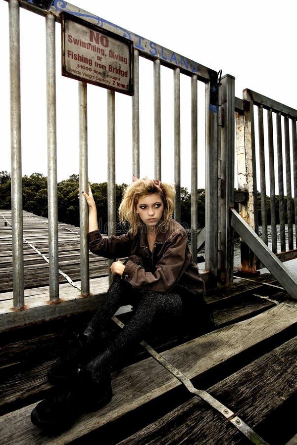 πρότυπος έφηβος γεφυρών ξύλινος στοκ φωτογραφίες