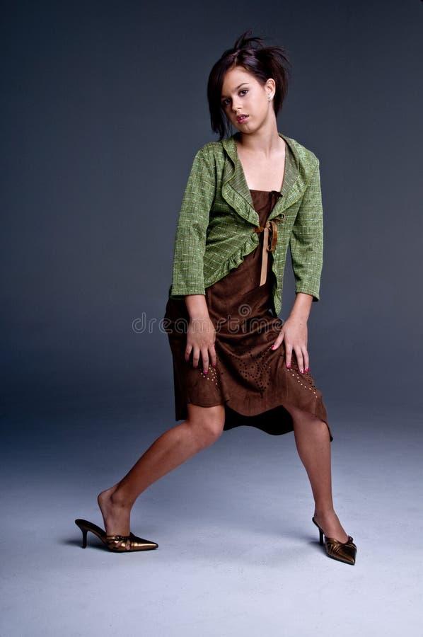 πρότυπος εφηβικός μόδας στοκ φωτογραφία