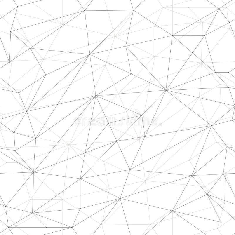 πρότυπο άνευ ραφής Ευθείες γραμμές με τα σημεία των κόμβων διατομής επίσης corel σύρετε το διάνυσμα απεικόνισης στοκ φωτογραφίες