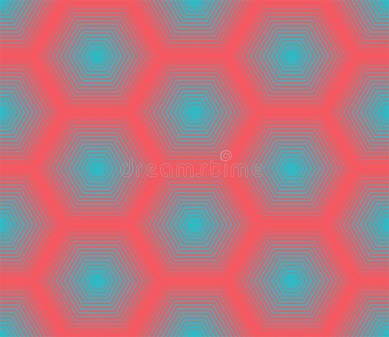 πρότυπο άνευ ραφής Σύγχρονη μοντέρνη σύσταση με μονοχρωματικό trellis Επανάληψη του γεωμετρικού πλέγματος Πενταγώνου γραφικός απλ απεικόνιση αποθεμάτων