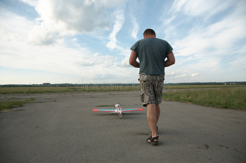 πρότυπο αεροπλάνο ατόμων στοκ φωτογραφίες
