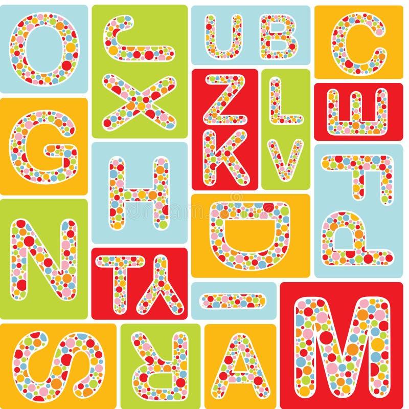 πρότυπο αλφάβητου άνευ ρα διανυσματική απεικόνιση